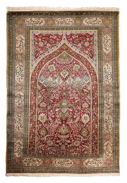 Silk GHOUM (Iran), Shah's time, circa 1975....