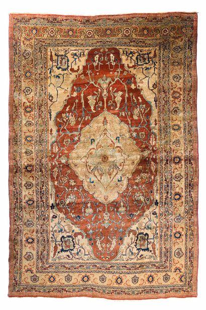 Very beautiful silk HERIZ (Persia), circa...