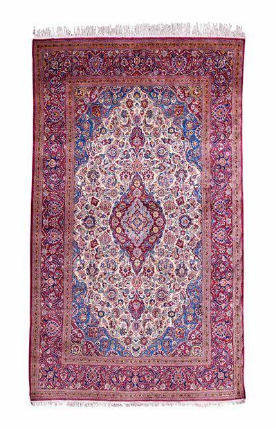 Late KACHAN, in silk (Persia), late 19th...