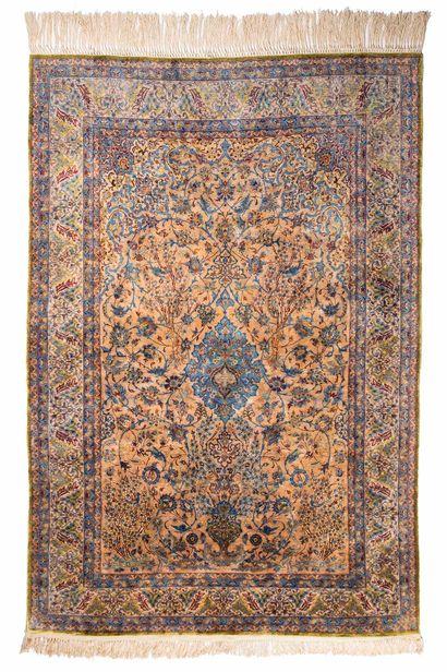 ISPAHAN in silk (Iran), circa 1965/70. Dimensions:...