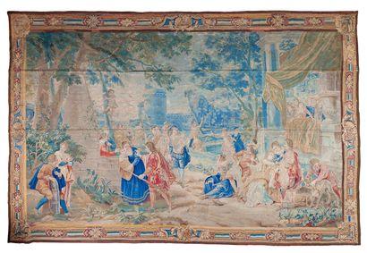 Rare panneau de tapisserie fine du XVIII°...