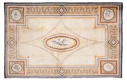 Important et original tapis aux points de...