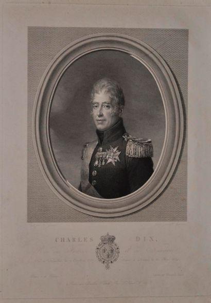 Charles X. Gravure par François Garnier....