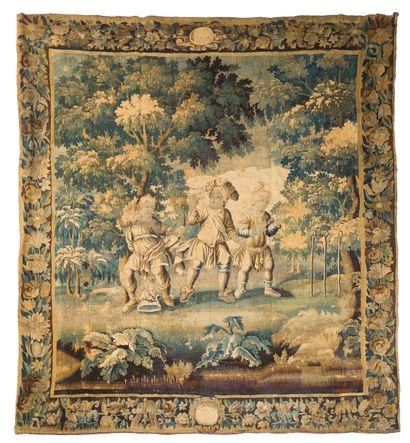 Tapisserie d'Aubusson en laine est soie du...