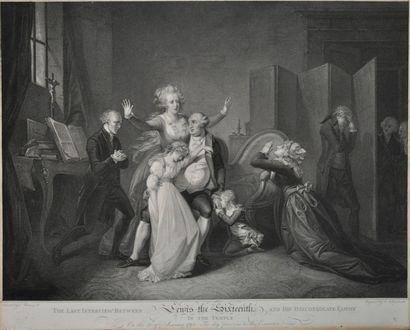 Séparation de Louis XVI et sa famille au...