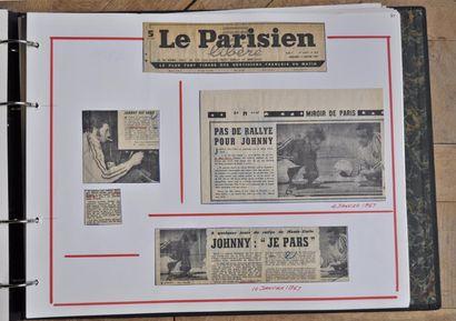 Johnny HALLYDAY Press Book de Johnny HALLYDAY et Henri CHEMIN sur le rallye de Monte...