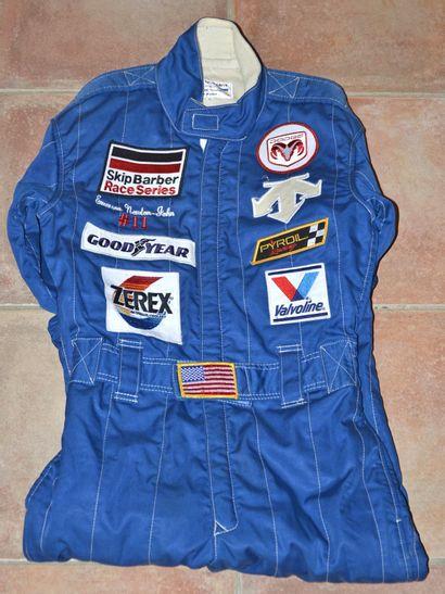 Combinaison de course de E. NEWTON-JOHN, pilote NASCAR et INDIANAPOLIS, né le 26/09/1974,...