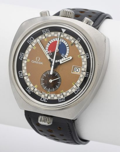 OMEGA CHRONOGRAPHE SEAMASTER BULLHEAD RÉF. 146.011.69, vers 1970  Rare chronographe...