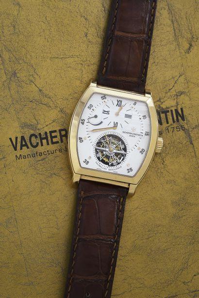 VACHERON CONSTANTIN MALTE TONNEAU / TOURBILLON - REGULATEUR OR ROSE RÉF. 30080/000R-9257,...