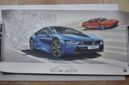 Lithographies: BMW i8 2014 - BMW M1 1978...
