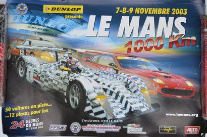 Lot de 15 affiches: Le Mans 1.000 km 200...