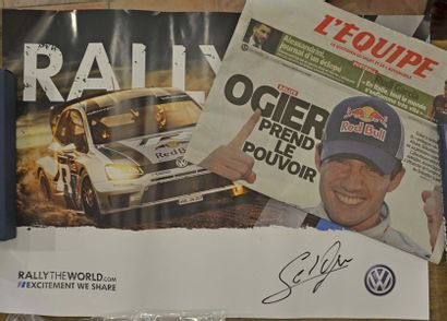 Poster Volkswagen Motorsport WRC 2013 + autographe...