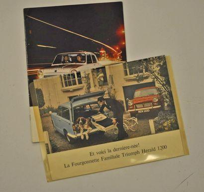 Lot de 2 catalogues Triumph: 1300 (Salon...