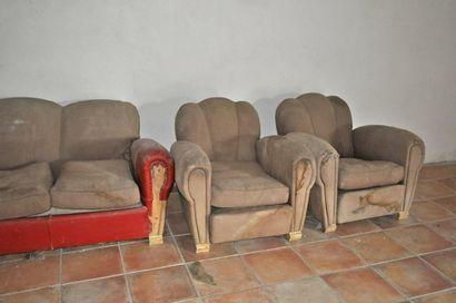 Salon Art Déco: canapé et 2 fauteuils dit...
