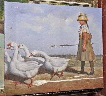 HAMPTON, école moderne. La gardienne d'oies....
