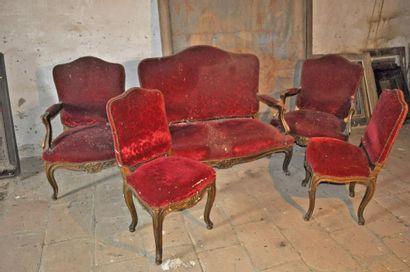 Ensemble de Salon: canapé + 2 fauteuils +...