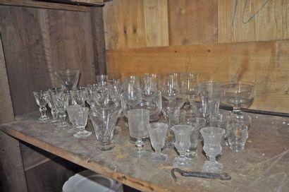 Lot de verres divers, XIX°, XX°. Environ...
