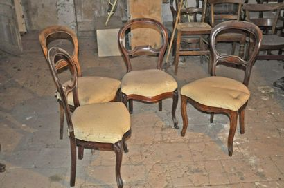 4 chaises Louis Philippe