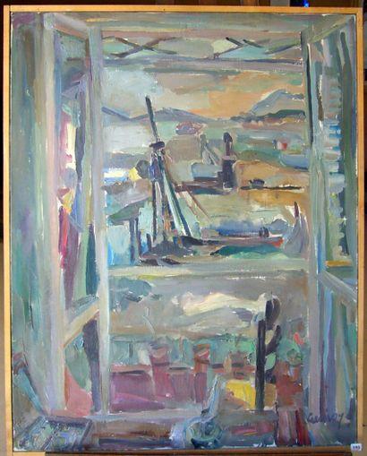 Paul DE GUIROYE . La Fenêtre sur le Port....