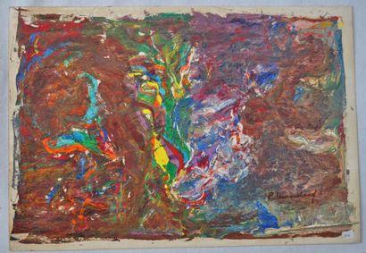 René Hugues LEMARCHAND. 10 œuvres sur carton....