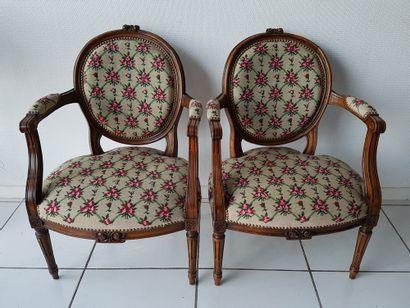 Paire de fauteuils de style Louis XV, début...