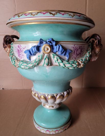 Grand vase en porcelaine fin du XIXe siècle...