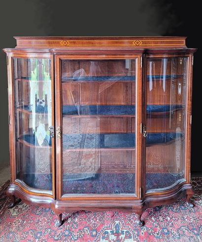 Vitrine Anglaise style Chippendale vers 1900,...