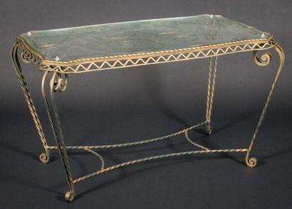 Table basse en fer forgé des années 50 /...