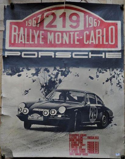 PORSCHE. Victoire Monte Carlo, Elford/Stone....