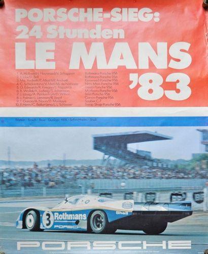 PORSCHE. 24h du Mans 1983. Affiche 101x76cm...