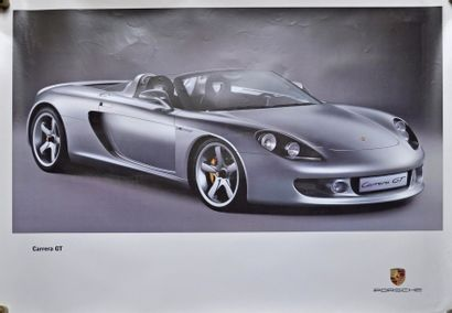 PORSCHE Carrera GT. Affiche 75x100cm PORSCHE...