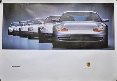 PORSCHE Evolution 911. Affiche 75x100cm PORSCHE...