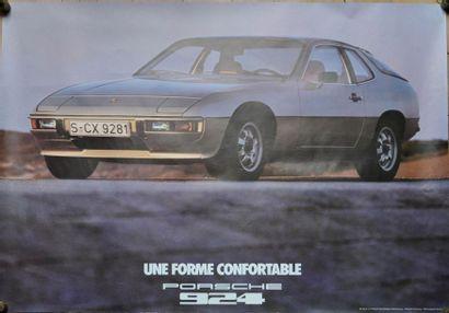 PORSCHE 924. Affiche 75x100cm PORSCHE 924....