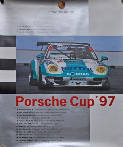 PORSCHE Cup 1997. Affiche 100x75cm PORSCHE...