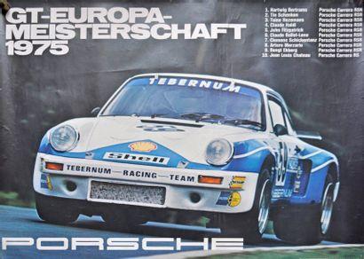 PORSCHE Champion d'Europe GT 1975. Porche...