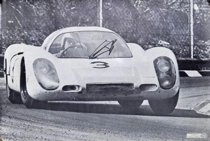 PORSCHE 908. Tirage d'après photo SPPI 1968....