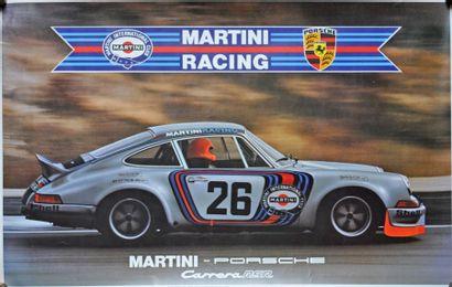 PORSCHE Carrera RSR Martini. Affiche 58x89cm...