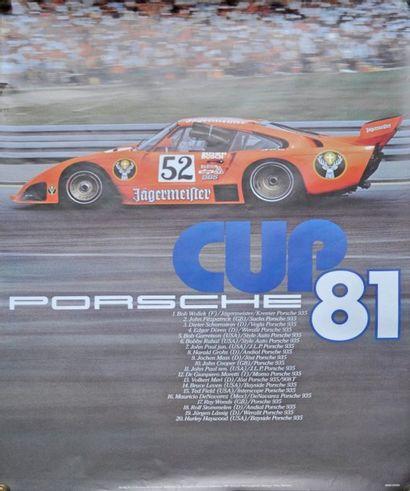 PORSCHE Cup 81, 1° Bon Wolleck, Kremer 935....