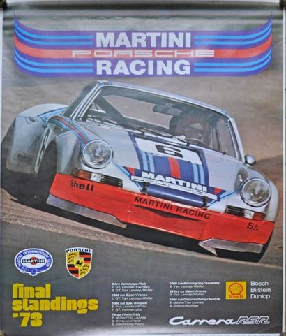 PORSCHE, Carrera RSR Martini 1973. Affiche...