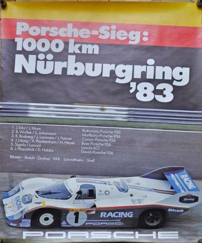 PORSCHE, 1000 kms de Nürburgring 1983, 1°...