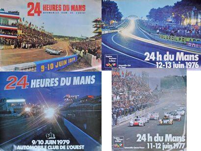 24h du Mans 1973, 1976, 1977, 1979. 4 Affiches...