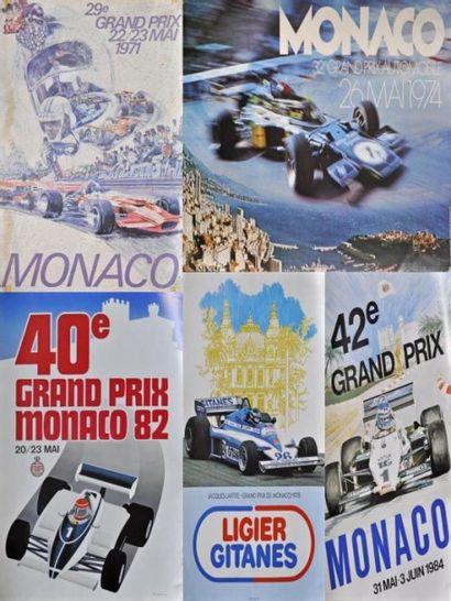 GP de Monaco F1 1971, 1974, 1978, 1982, 1984....