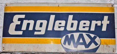 Plaque Englebert Max signée SGE Paris (36x80...