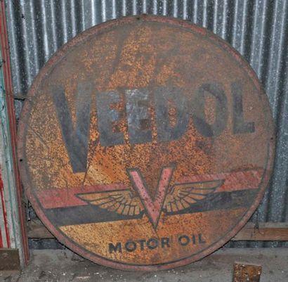 Plaque Veedol Motoroil (diam. 100cm)