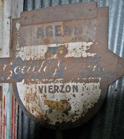 Plaque Société française Vierzon et plaque...