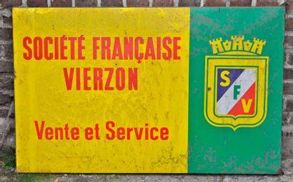 Plaque Société française Vierzon (77x120cm)...