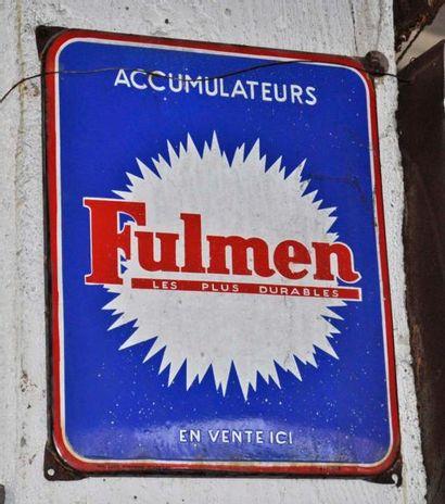 Plaque Fulmen (40x30cm environ)