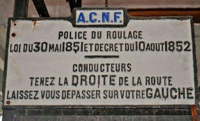 Panneau Automobile Club du Nord de la France...