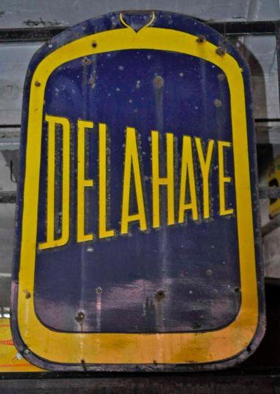 Plaque Delahaye double face (110x70cm)