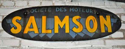 Plaque Société des moteurs Salmson (100x...